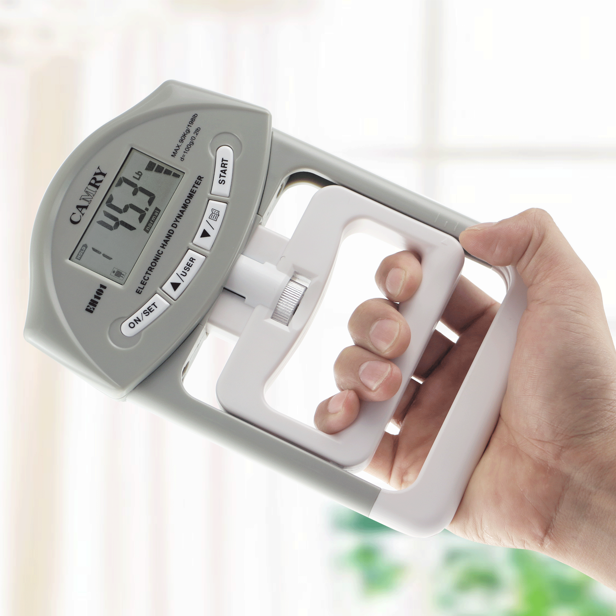 camry eh101 digital hand dynamometer grey hand. Black Bedroom Furniture Sets. Home Design Ideas