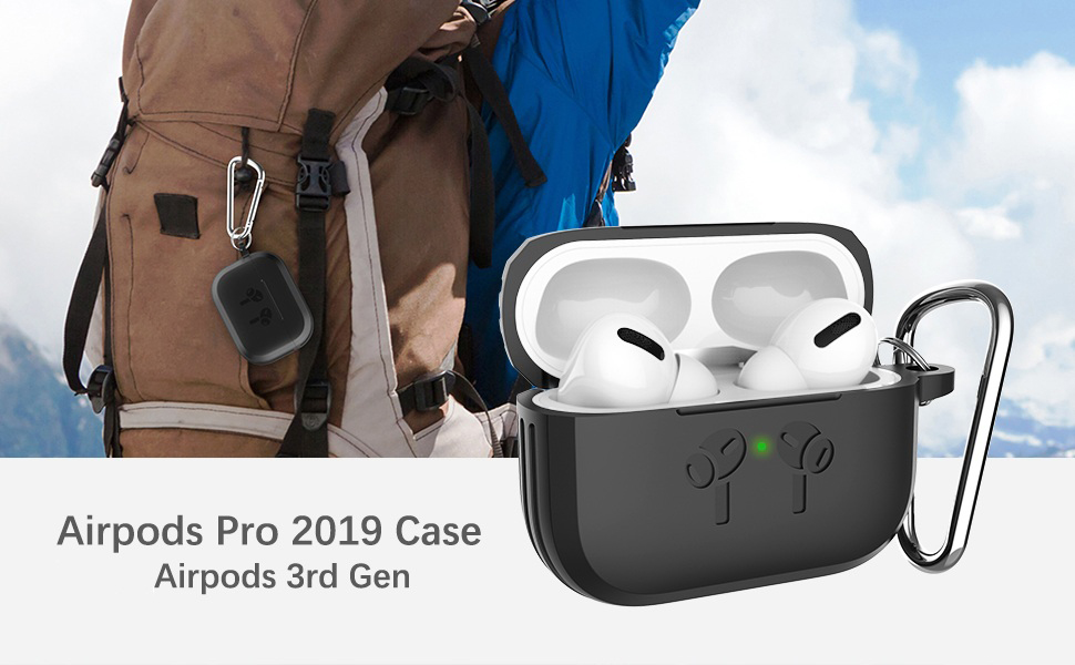 Compatible Airpods Charging case for Airpods Pro with Wireless Charging Charging LED Light Visible UPUPMOMO Airpods pro Shell Protection