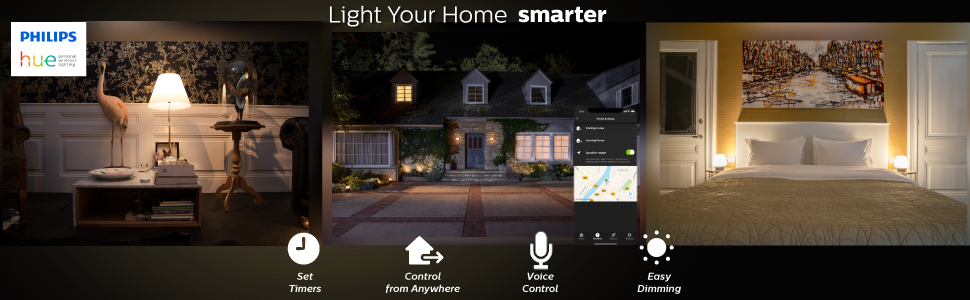 Philips; Hue; smart lighting; smart home; LED; app controlled; voice controlled; white light