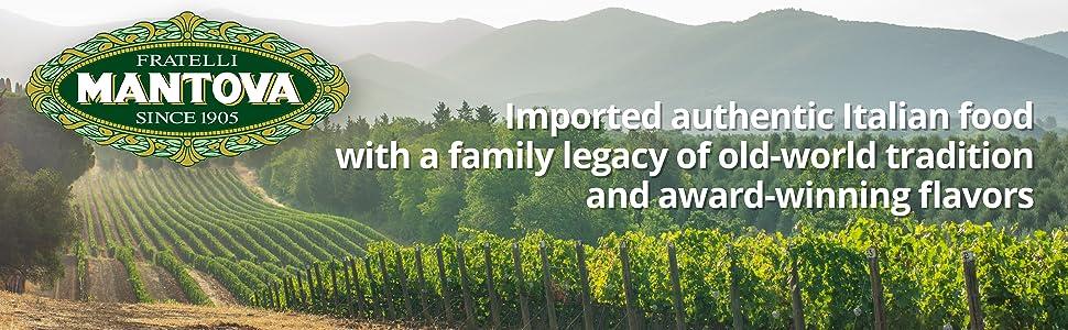 Mantova imported authentic Italian food, USDA organic balsamic vinegar of modena