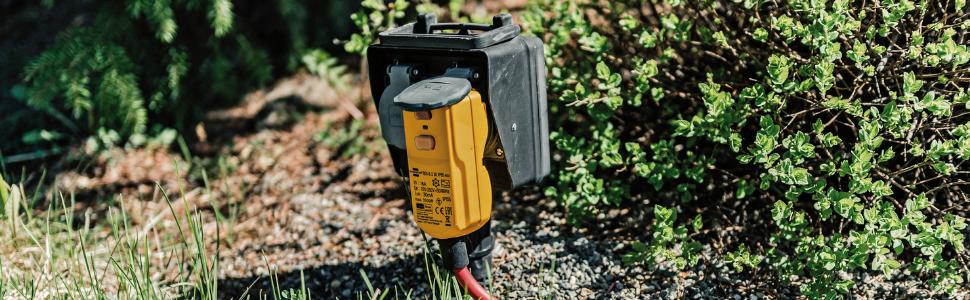 branderstoel, stekker, differentiebescherming, adapter, stekker met differentiebeveiliging.