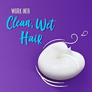 Work into clean, wet hair