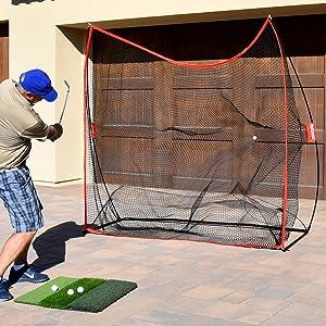 gosports golf hitting practice driving net training aid rukket pga home golf garage man cave gift