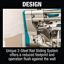 dsign unique two steel rail sliding system offers reduced footprint operation flush against wall