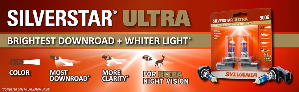 Sylvania automotive silverstar ultra silver star 9003 9006 9007 9012 H11 H7 9005 lamp lens bulb