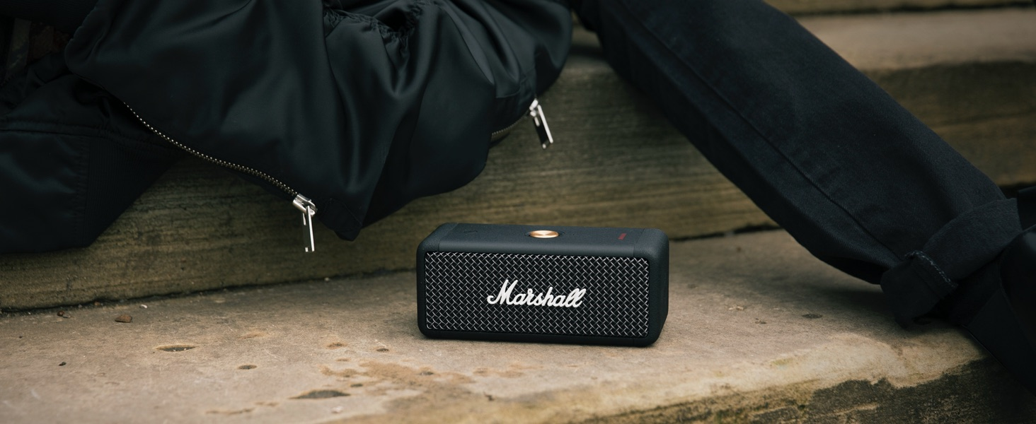 Marshall Emberton Tragbarer Lautsprecher Schwarz One Size Audio Hifi
