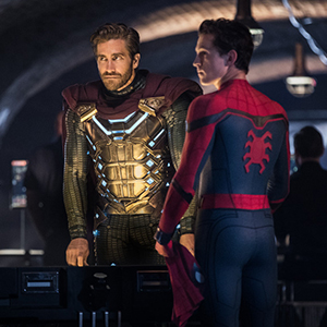 Jake Gyllenhaal Quentin Beck Mysterio Tom Holland (Peter Parker/Spider-Man) Spider-Man Far From Home