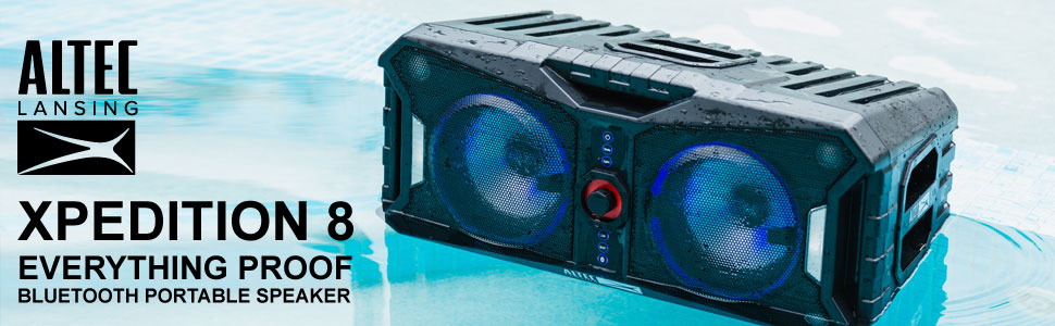Altec Lansing XPEDITION 8 ALP-XP800 Portable Wireless Bluetooth Speaker System