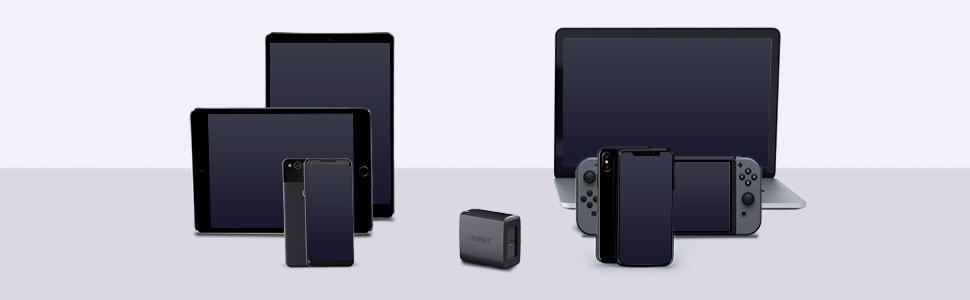 Amazon.com: Aukey Cargador de USB C compatible con entrega ...