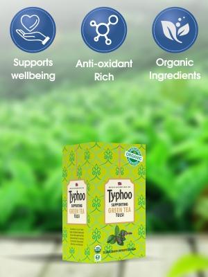 organic tea Typohoo Green tea tulsi