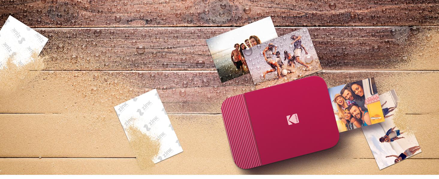 Kodak Smile Printer lifeproof prints