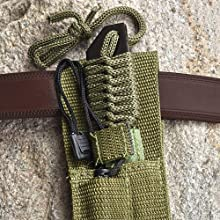 Sheath attached to belt