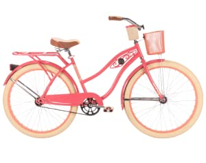 huffy cruiser bike, women's bike, lady bike, deluxe bike, pink bike, comfortable bike