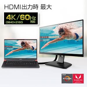 HDMI外部出力時4K、60Hz対応