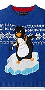 Funny xhristmas sweaters for boys, boys ugly christmas sweaters, penguin sweaters fro boys,