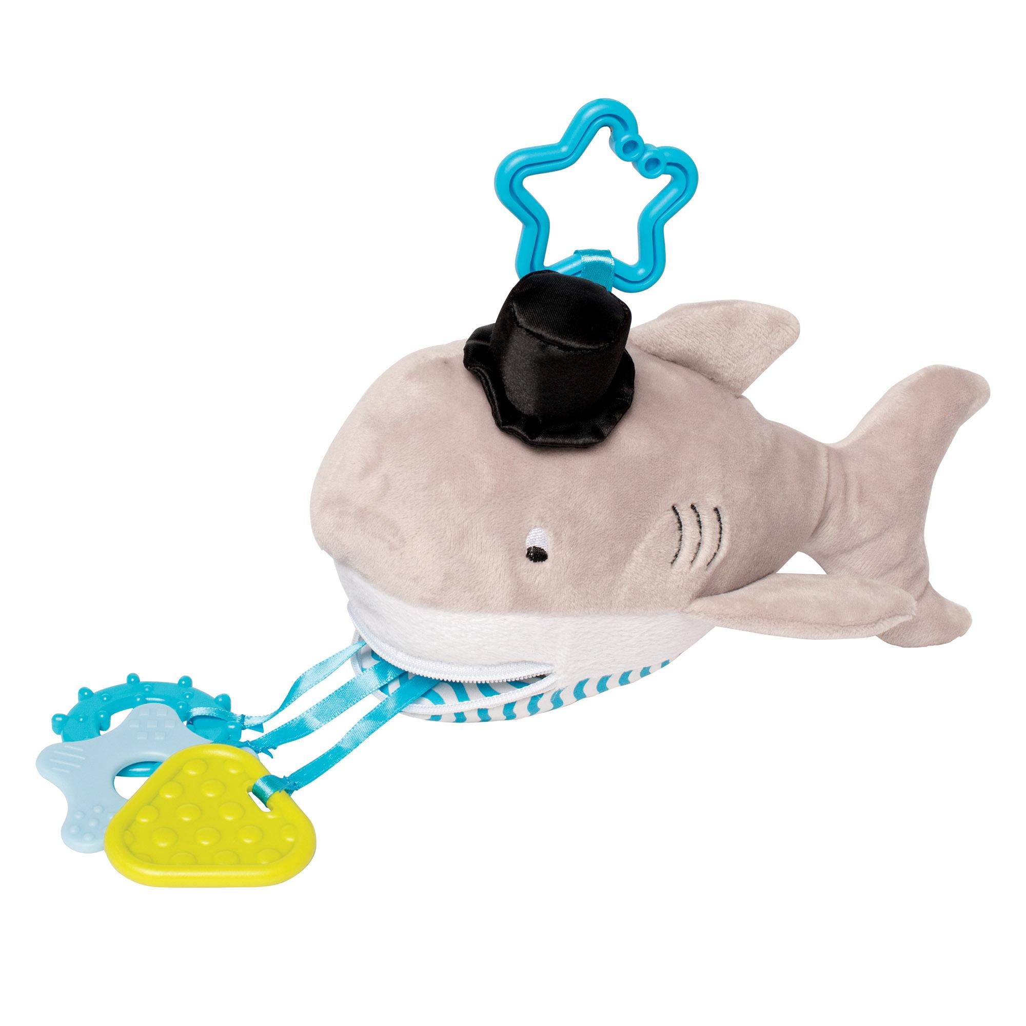 Amazon Manhattan Toy Shelton Shark Zip & Play Teether and
