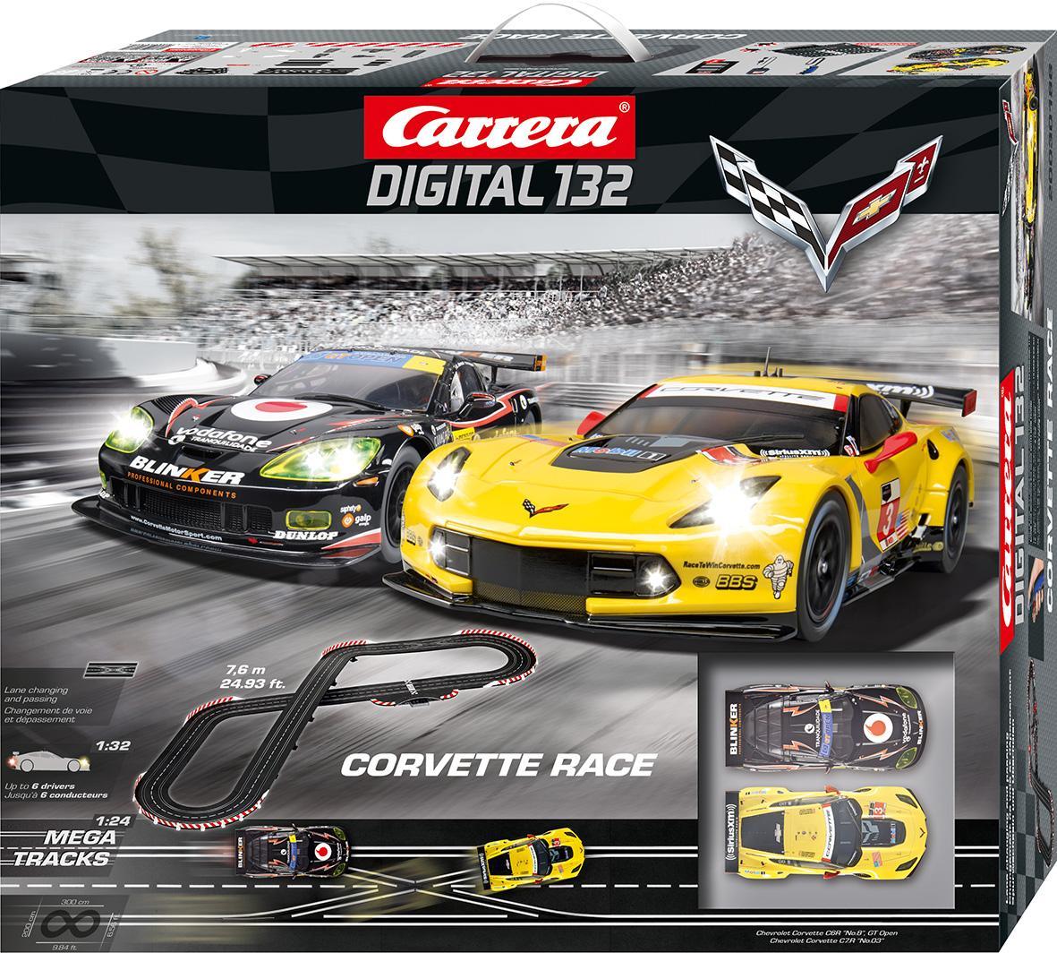 Amazon.com: Carrera Corvette Race Slot Car Track: Toys & Games