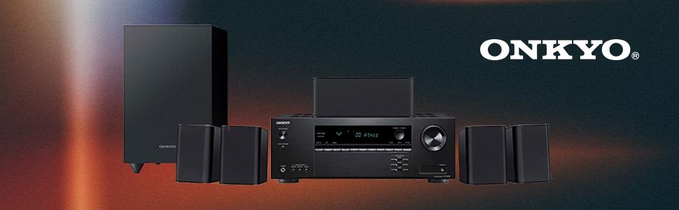 Onkyo HT-S3910(B) 5.1 Sistema de Cine en casa con Receptor AV y Altavoces (155 W/Canal, 4K UltraHD Pass-Through, Dolby Atmos, DTS:X-Playback, ...