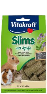rabbit, guinea pig, hamster, rodent, treat, crunchy, Vitakraft, Slims, small animal, alfalfa, green
