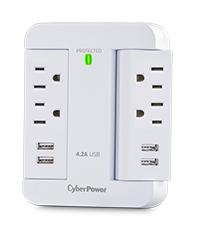 CyberPower P4WSU Surge Protector