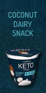 :ratio KETO friendly Coconut Yogurt Dairy Snack