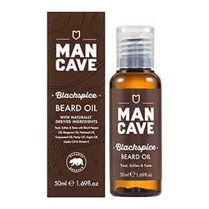 mancave beard oil, mancave blackspice beard oil, natural beard oil,