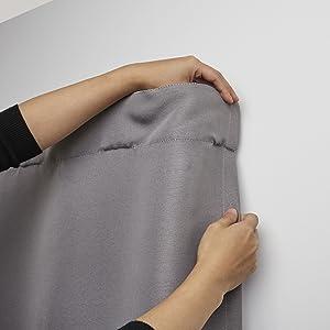 double curtain rod, blackout curtain rod, room darkening curtain rod, curtain rod set, curtain rod