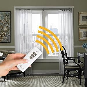 Amazon Com Erod Beme International Extra Remote Control For Motorized Drapery Rods Home Kitchen