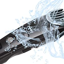 100% Washable Hair Trimmer Cleans Under the Faucet