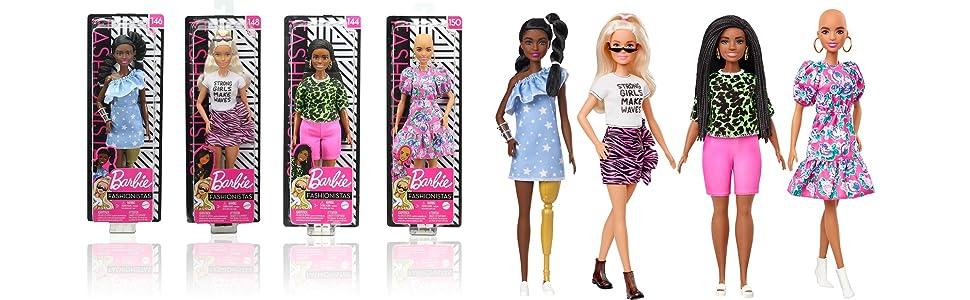 Barbie LONG LONG HAIR BrunetteW//Blue Streaks//Blue Dress /& Accessories X7884 NIB