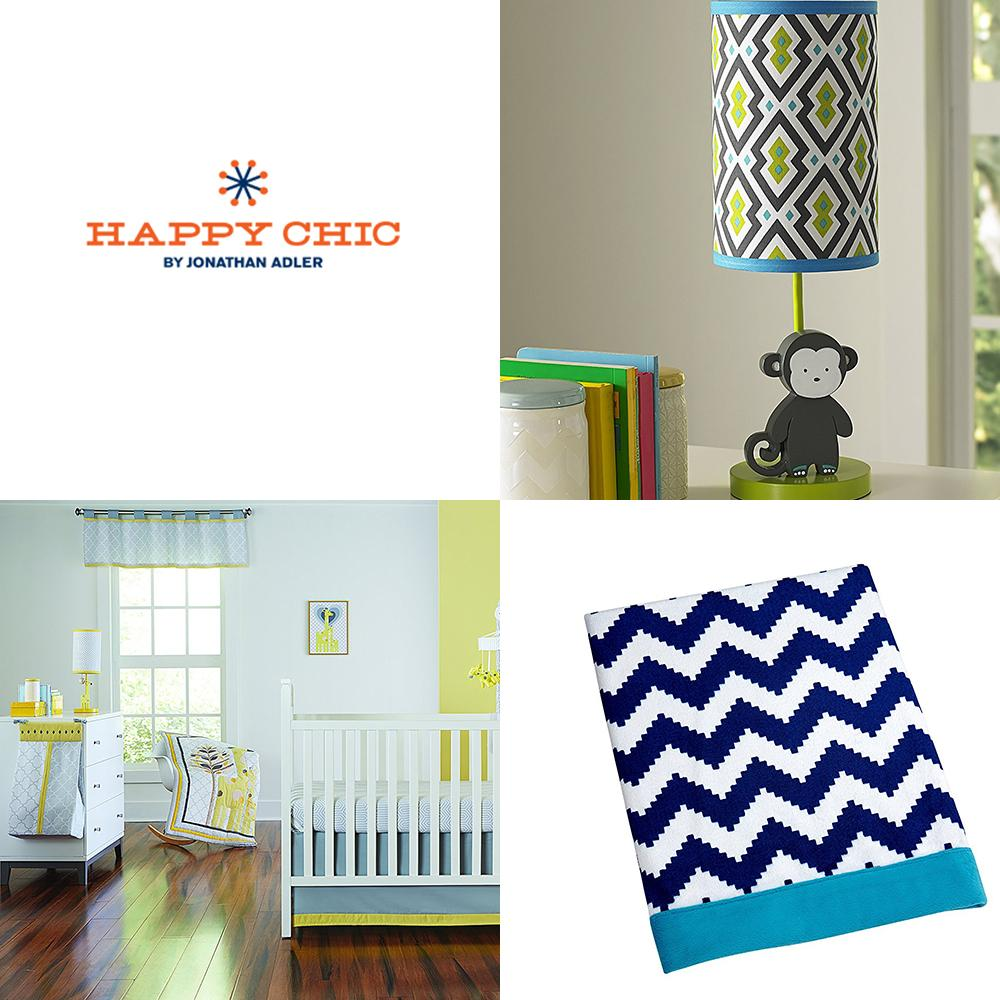 happy chic baby jonathan adler party elephant valance pink orange white baby. Black Bedroom Furniture Sets. Home Design Ideas
