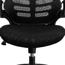 ergonomic seat, waterfall seat