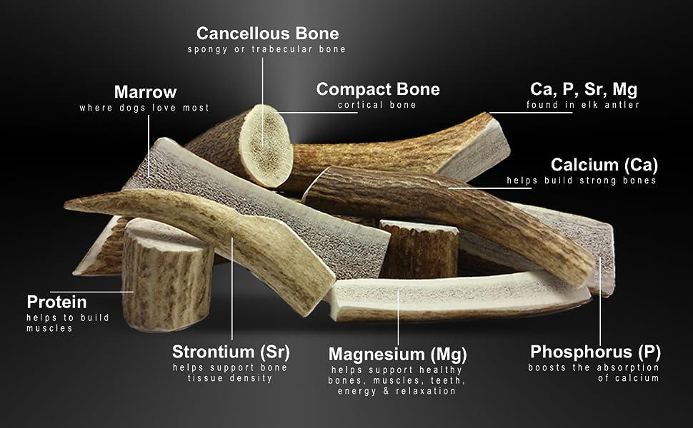 100/% Natural /& Healthy Flavoursome Bone Marrow Long Lasting Split Antler Dog Chew Treat Medium x 1