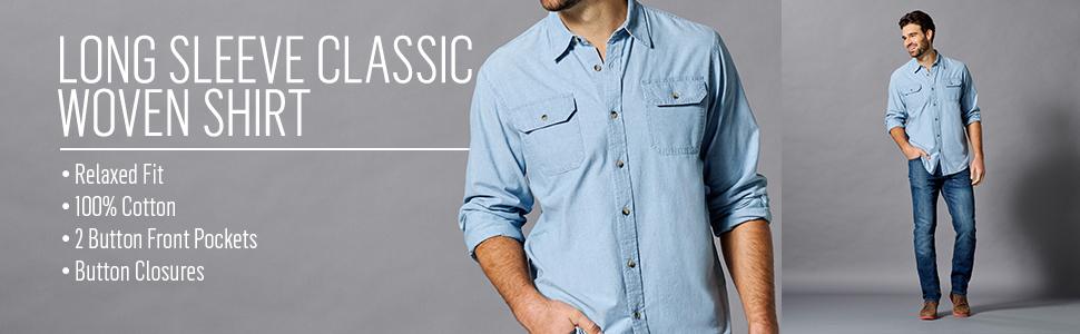 Authentics Long Sleeve Classic Woven Shirt