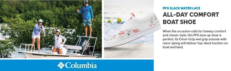 Columbia Women's PFG Slack Water Lace Up Shoe