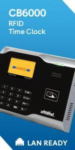 Biometric Fingerprint Clock Access Control Reader time LAN