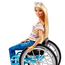 Barbie Fashionistas Doll, Blonde with Wheelchair and Ramp
