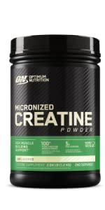 OPTIMUM NUTRITION CREATINE SUPPLEMENT MUSCLE SUPPORT AND RECOVERY SUPPLEMENT WORKOUT SUPPLEMENT ON