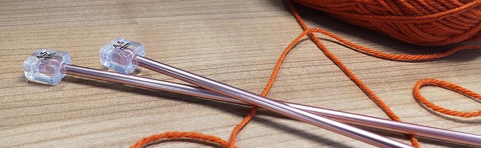 35cm x 3 Pairs Gift Milward Knitting Needle Pin Set Rose Gold