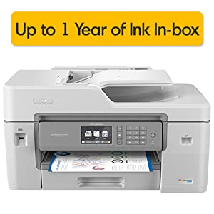 Brother MFC-J6545DW INKvestmentTank Color Inkjet All-in-One Printer with Wireless, Duplex Printing, 11
