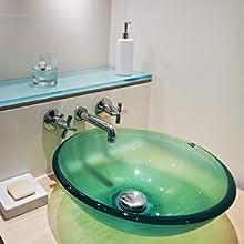 Bathroom Glass Wall Shelf