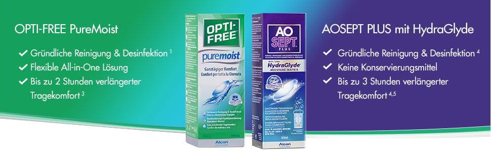 großartige Qualität suche nach neuestem verschiedene Stile Alcon Opti-Free PureMoist Pflegemittel, Vorratspackung (2 x 300ml)