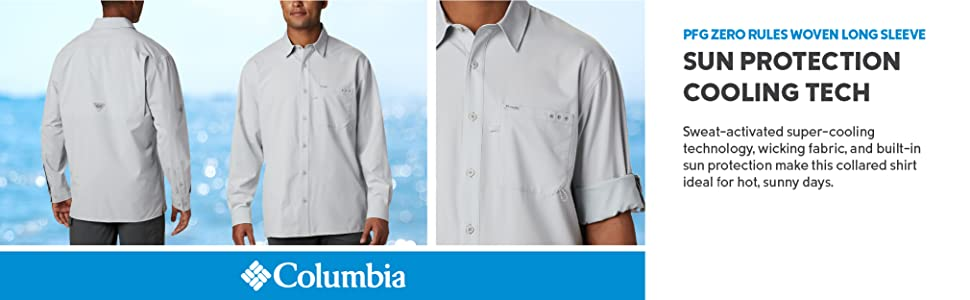 Columbia Men's PFG ZERO Rules Woven Long Sleeve Shirt