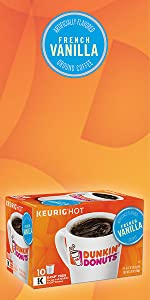 ... Dunkin Donuts French Vanilla flavored Keurig K-Cup Pods medium roast coffee 100% Arabica ...