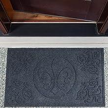 DII Indoor/Outdoor Industrial, Durable Non-Slip Hog Mat Easy Clean Rubber Back Entry Way Doormat