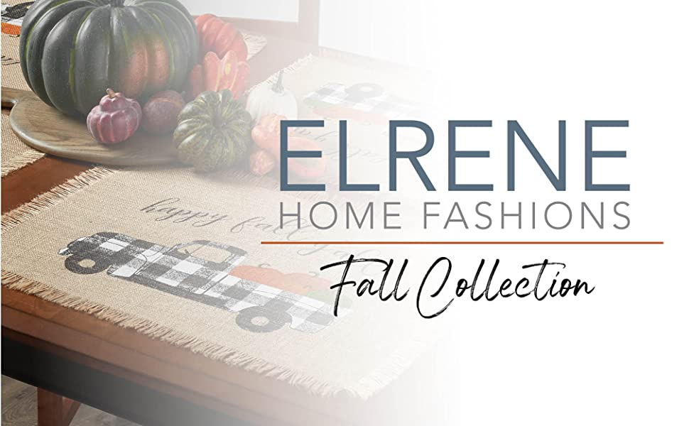 Elrene Home Fashions Autumn Leaves Tablecloth