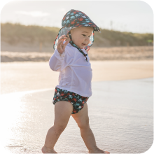 Sun Protection Flap Sun Hats Baseball Brim Hat Beach Hat Navy i Play 2PK UPF 50