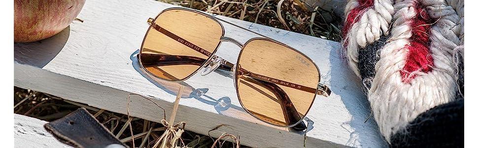 Gigi Hadid for Vogue Eyewear Womens Square Sunglasses VO4083S Gold/Orange