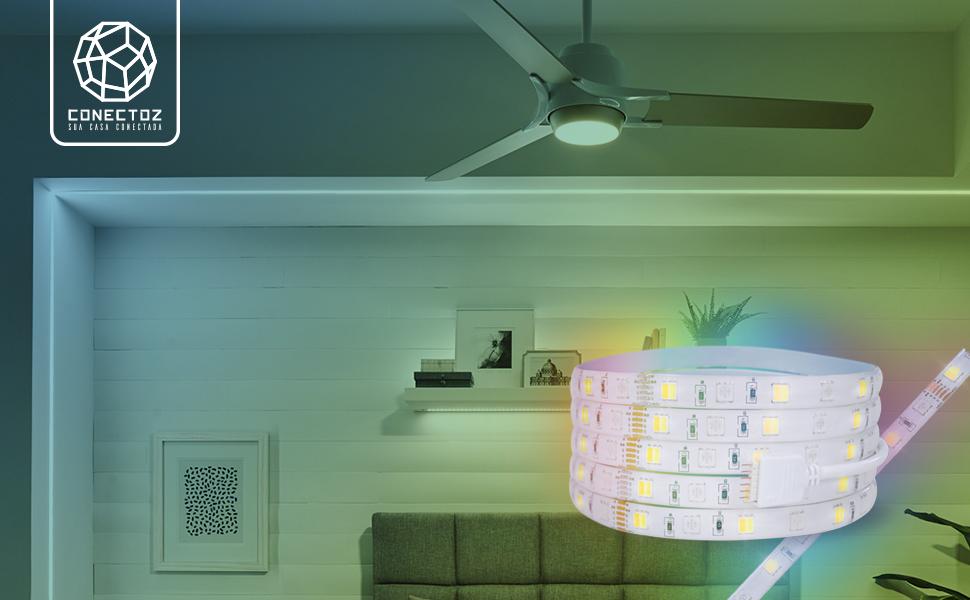 fita led inteligente wifi; fita led smart wifi; fita led comando de voz; fita led decoração wifi