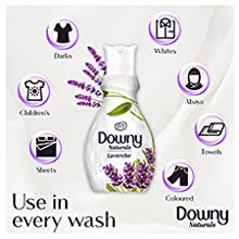 Downy Naturals, Fabric Softener, Lavender, Plant-based, Mild Scent, Laundry, Derma-tested